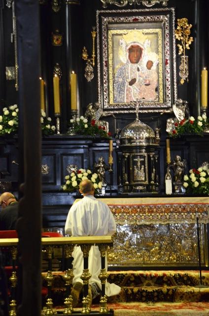 Die Schwarze Madonna im Kloster Jasna Góra in Tschenstochau.