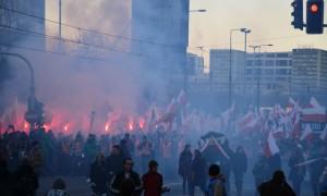 """Auftakt zum neofaschistischen """"Marsch der Unabhängigkeit"""" in Warschau. (Foto: Krökel)"""
