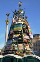 Die Maidan-Tanne auf dem Kiewer Unabhängigkeitsplatz.