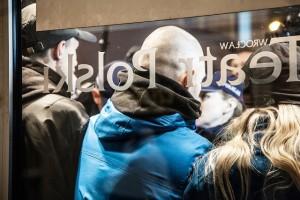 """Sturm"" auf das Teatr Polski bei der Jelinek-Premiere im November. (Foto: TP)"